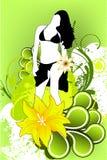 Girl in flowers Stock Photo