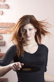 Girl with flowing red hair Royalty Free Stock Photo