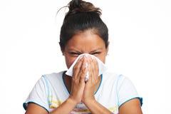 Girl with flu symptom Stock Photo