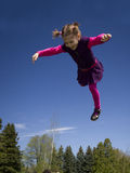 Girl flying Royalty Free Stock Image