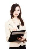 Girl with folder Stock Image