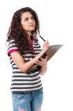 Girl with folder Royalty Free Stock Images