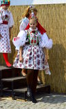 Girl in folk costume of Vracov. Girl dressed in moravian  folk costume of Vracov during folk festival Moravian-Slovak Year in Kyjov 13-16 August 2015. The oldest Royalty Free Stock Photo