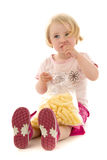 Girl at food Royalty Free Stock Photos