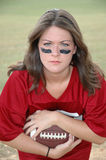 Girl Football Player Royalty Free Stock Photos