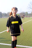 The girl the football player Royalty Free Stock Image