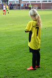 The girl the football player Royalty Free Stock Images