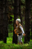 Girl in the forestх Stock Photo