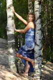 Girl in the forest Royalty Free Stock Photo
