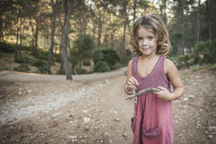 Girl in forest Stock Image