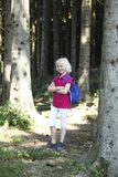 Girl in forest Stock Photos