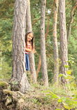Girl in forest Royalty Free Stock Photo