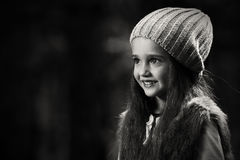 Girl in the forest Stock Photography