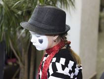 Girl in the form of mime actor Stock Photo