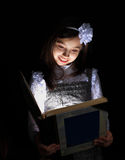 The girl found a book. Royalty Free Stock Images