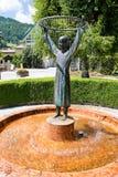 Girl fountain Stock Image