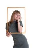 Girl in a frame Stock Photo