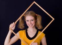 Girl in a framework Stock Photos
