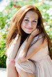 Girl with freckles Stock Photography