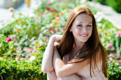 Girl with freckles Royalty Free Stock Photography