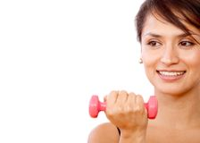 Girl with free-weights Stock Photography