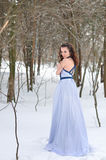 Girl freezing in the winter Royalty Free Stock Photography