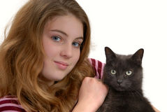 Girl and friend Stock Images