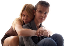 Girl-friends Stock Images