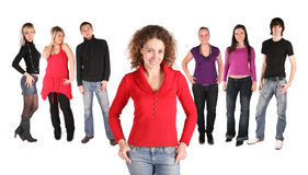 Girl with friends Royalty Free Stock Photography