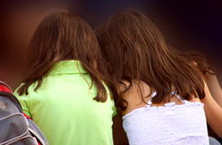 Girl Friends. Two Girl Friends at the park having some fun Royalty Free Stock Image