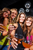 Girl friends in a bar Stock Photos
