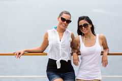 Girl friends cruise Royalty Free Stock Photography