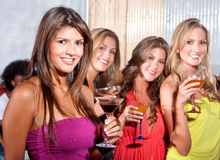 Girl friends at a party Royalty Free Stock Photo
