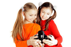 Girl friends photographed Stock Images