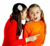 Girl friends played and speak Royalty Free Stock Photography