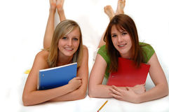 Girl friends ready for school Royalty Free Stock Photo