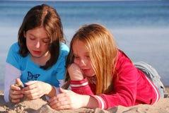 Girl friends talking Stock Photo