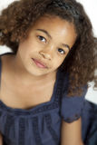 Girl with frizzy hair Stock Image