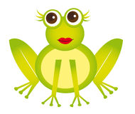 Girl frog Stock Images