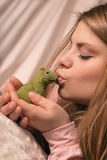 The girl and the Frog Royalty Free Stock Photo