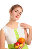 Girl with fruits Royalty Free Stock Photos