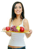Girl with fruits Stock Photo