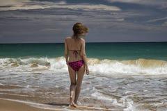 Girl. Fun girl on the beach Royalty Free Stock Image