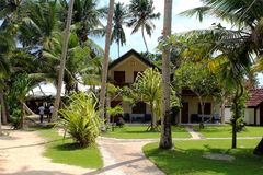 Tropical bungalow Stock Photography