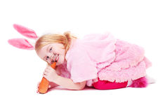 Girl in funcy suit Royalty Free Stock Photography