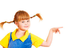 Girl with funny braids Stock Image