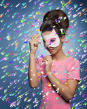 Girl with funny cat mask Royalty Free Stock Photography