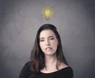Girl with funny facial expression Stock Photos