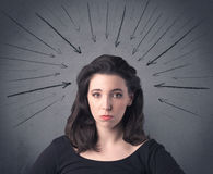 Girl with funny facial expression Stock Photography