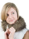 Girl in fur Royalty Free Stock Photo
